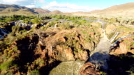 HELI Epupa Falls With Surrounded Landscape