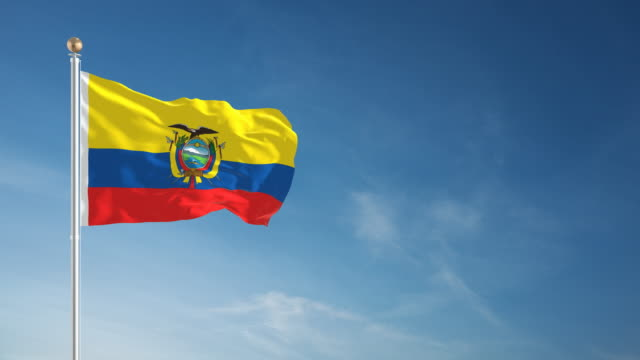4K Equador Flag - Loopable