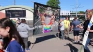 Equality March participants are seen on 27 May 2017 in Gdansk Poland Few thousands people took part in the Equality March for LGBT people rights...