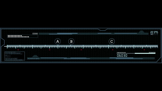 Equalizer HUD digital animated UI panel