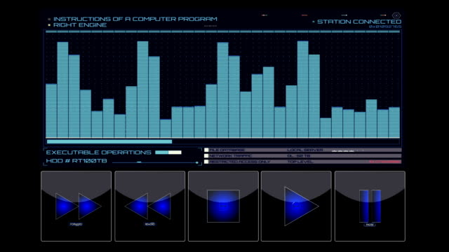 Equalizer with control buttons hud background