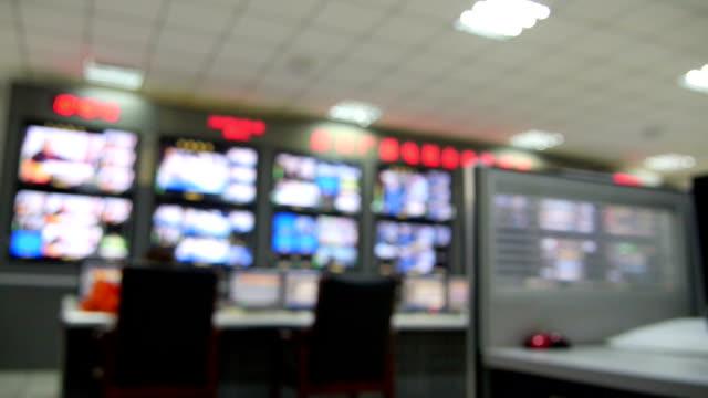 TV attrezzature sala di controllo.