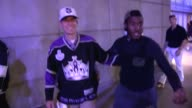 Eric Garcetti greets a fan departing the LA Kings vs NY Rangers Game 5 Stanley Cup Finals at the Staples Center in Los Angeles Celebrity Sightings in...