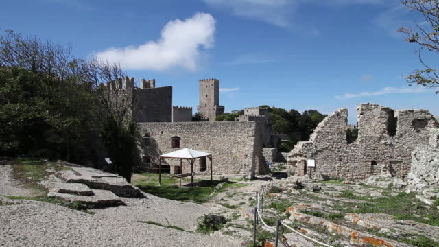 Erice, castle of Venus, view of the sanctuary