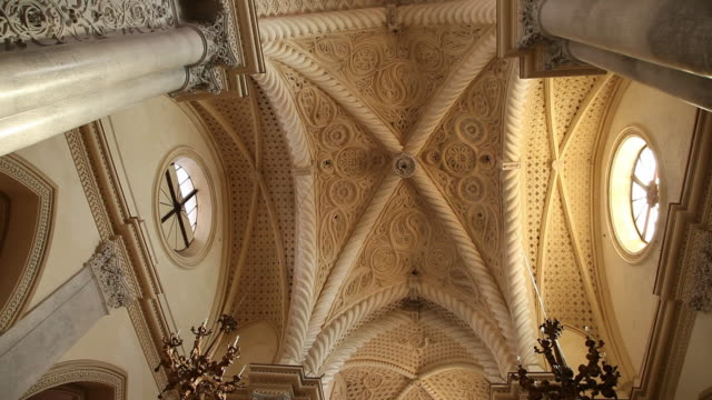 Erice, the Royal church, view of the ceiling