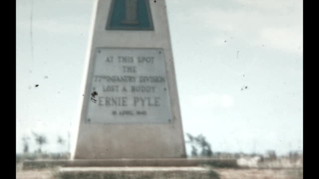 Ernie Pyle Memorial and Ie Shima Cemetery and Chapel in the Okinawa Prefecture