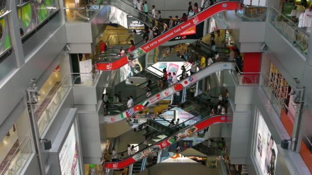 Escalator at MBK in Bangkok