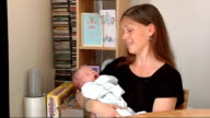 Canvey Island Nicola Tyler interview SOT Close up of baby Zac