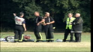 Young pilot killed in air crash Crash scene ENGLAND Essex Southend EXT Wreckage of light aircraft which crashed killing 16yearold pilot Sam Cross...
