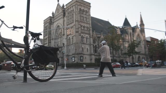 Establishing shot of a Cathedral in Brooklyn