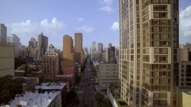 establishing shot of city metropolis buildings