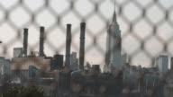 Establishing shot of New York City's Empire State Building