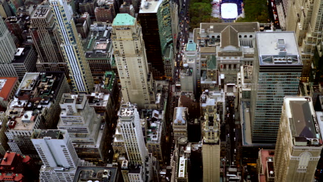 establishment shot of metropolis city skyline urban landmarks background