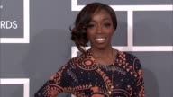 Estelle Swaray at The 55th Annual GRAMMY Awards Arrivals in Los Angeles CA on 2/10/13