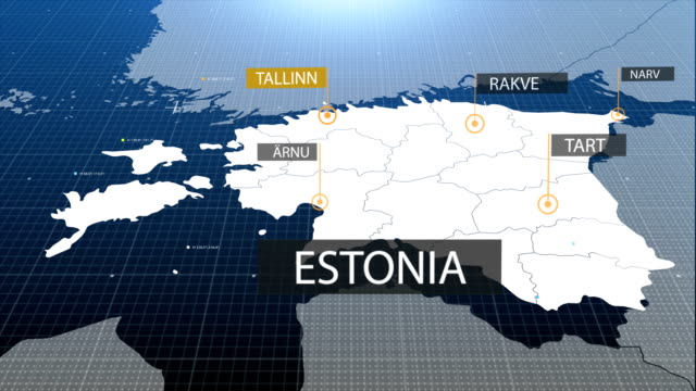 Estonia map with label then with out label