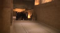 Estonian Prime Minister Juri Ratas accompanied by Mayor of Gaziantep Fatma Sahin visits the Zeugma Mosaic Museum the biggest mosaic museum in the...