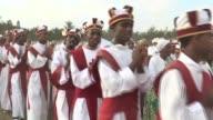 Ethiopian Orthodox Christians start to celebrate Epiphany holiday in Addis Ababa Ethiopia on January 18 2015