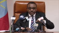 Ethiopian Prime Minister Hailemariam Desalegn holds a press conference in Addis Ababa Ethiopia on January 09 2017