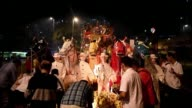 Ethnic Malaysian Chinese devotees offer prayers mark the Hungry Ghost Festival in Kuala Lumpur