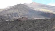 Etna mountain, volcanic landscapes