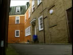 Eton Pupil commits suicide Sign 'Baldwins Bec' sign outside boarding house PULL Reporter to camera Towers of school building