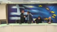 Euclides Tsakalotos coordinador del equipo negociador griego sustituye a Yanis Varoufakis como ministro de Finanzas del pais despues de que este...