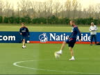 England prepare for friendly match against Austria Training Owen playing in practice match / Paul Robinson / Beckham playing / Robinson / McClaren...