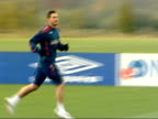 England prepare for friendly match against Austria Training Venables watching / Peter Crouch / players playing practice match / Frank Lampard /...