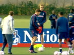 England prepare for friendly match against Austria Training McClaren and players in circle passing balls / photographers / Steven Gerrard training /...
