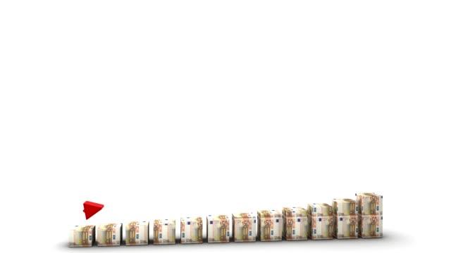 Euro Bill Bars Graph Rising