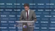 Euro zone finance ministers meet in Brussels without their Greek counterpart following the conclusion of a meeting of all 19 ministers which has...