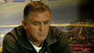 Wigan Athletic press conference ENGLAND Wigan DW Stadium INT Owen Coyle press conference SOT