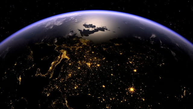 Europe and Rusiia from space