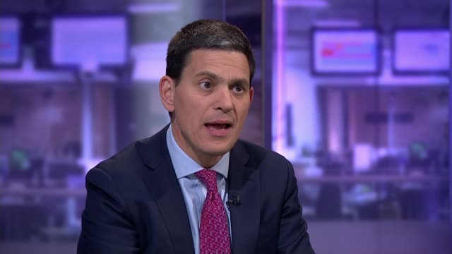 funeral held for Nigerian women who died at sea ENGLAND London GIR INT David Miliband STUDIO interview SOT re Europe migrant crisis with specific...