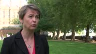 Yvette Cooper interview ENGLAND London Westminster EXT Yvette Cooper MP interview SOT on Government change of policy on Syrian refugee crisis