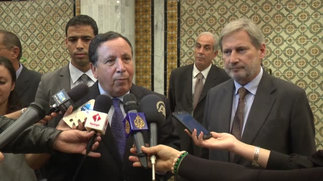 European Commissioner for European Neighbourhood Policy and Enlargement Negotiations Johannes Hahn meets with Tunisian Foreign Minister Khemaies...