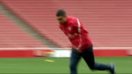 England team announced R23121103 ENGLAND London Emirates Stadium INT Alex Oxlade Chamberlain training with rest of Arsenal team