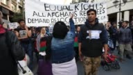 European Day of Action for Refugees March of refugees in Athens on March 2016