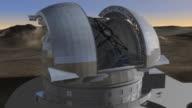 European Extremely Large Telescope, animation.