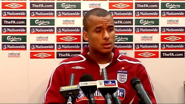 European Under21 Championship 2009 qualifiers England press conference ahead of Wales playoff ENGLAND Birmingham Villa Park PHOTOGRAPHY** Gabriel...