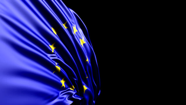 European Union Flag HD, PAL, NTSC, alpha included, looping
