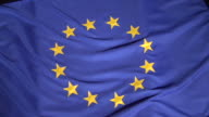 CU, PAN, European Union flag on black background