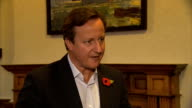 David Cameron interview ENGLAND Kent Rochester INT David Cameron MP interview SOT I think what people will want is a Prime Minister who gets in and...