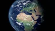 Die Europäische Union öffnet sich nach Erde zoom (Grenzen alpha matte)