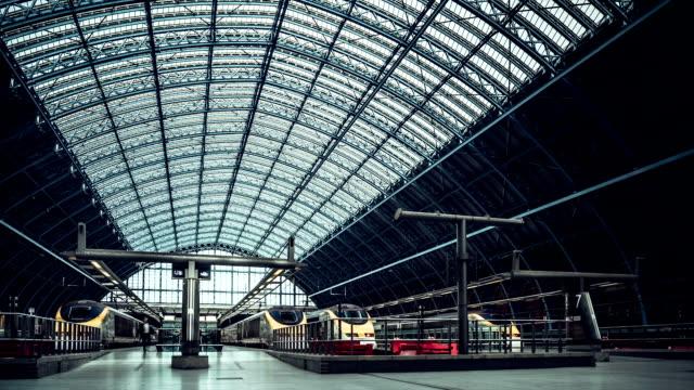 Eurostar terminal at St Pancras Railway Station, London