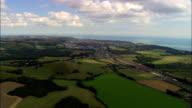 Eurostar-Züge im grüne Landschaft – Luftaufnahme-England, Kent, Shepway Bezirk, Vereinigtes Königreich