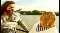 Eurovision Song Contest winners 'Lordi' interview ENGLAND London EXT Sylvester i/c Mr Lordi interview SOT we aren't really aware of the media furore...