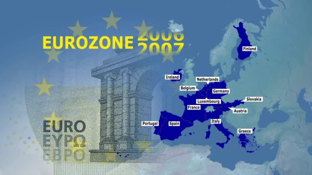 Eurozone Stock Footage Video Getty Images - Belgium eurozone map