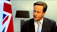 European Union summit David Cameron interviews David Cameron interview SOT I am making sure that we don't get a treaty that isn't in our national...