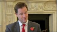 Nick Clegg interview ENGLAND London INT Nick Clegg MP interview SOT On EU summit good progress was made hope the Eurozone is starting to turn the...